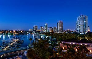 Florida / Saint Petersburg Skyline / Marina / Dawn